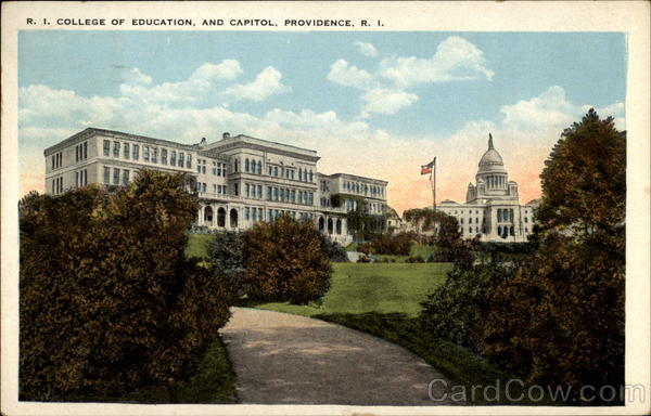 R.I College of Education, and Capitol, Providence, R. I Rhode Island