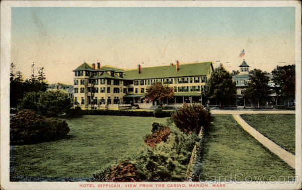 Hotel Sippican, View from the Casino Marion Massachusetts