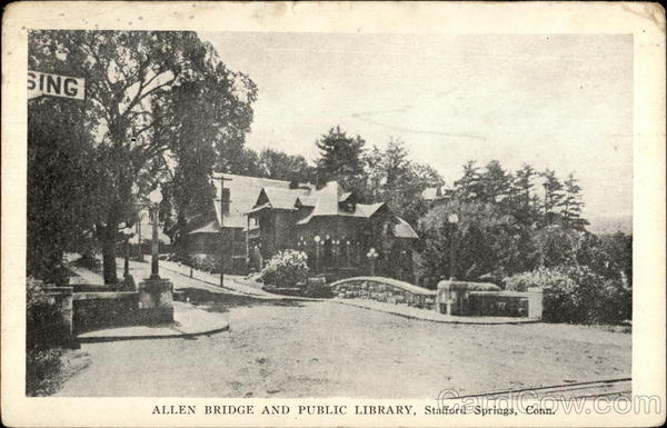 Allen Bridge and Public Library Stafford Springs Connecticut