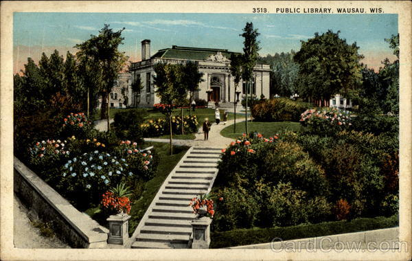 Public Library, Wausau, Wis Wisconsin