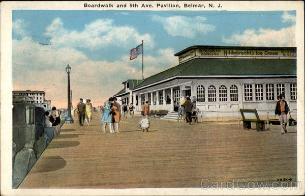 Boardwalk and 5th Ave. Pavilion, Belmar, N.J New Jersey