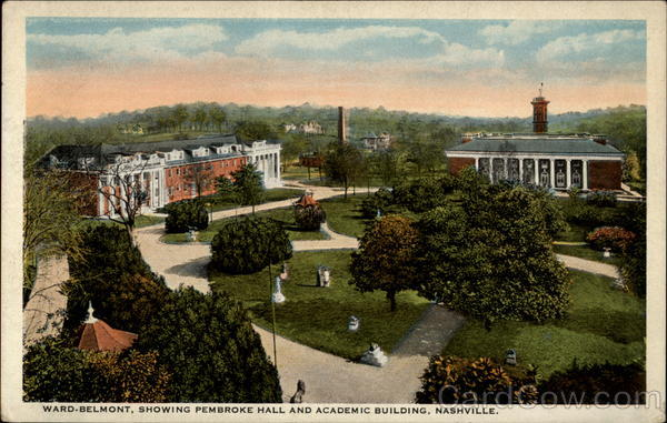 Ward-Belmont, Showing Pembroke Hall and Academic Building Nashville Tennessee