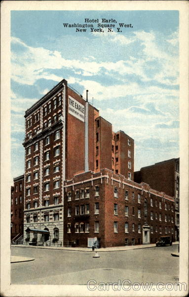 Hotel Earle, Washington Square West, New York, N.Y
