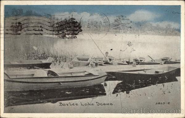Barlee Lake Scene Canoes & Rowboats