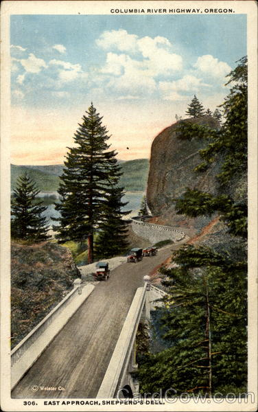 Columbia River Highway, Oregon. East Approach, Shepperd's Dell