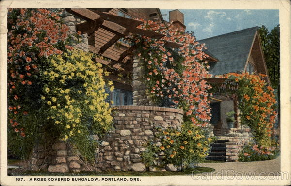 A Rose Covered Bungalow Portalnd Oregon