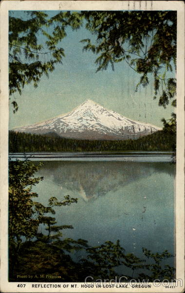 Refection of Mt. Hood in Lost Lake, Oregon