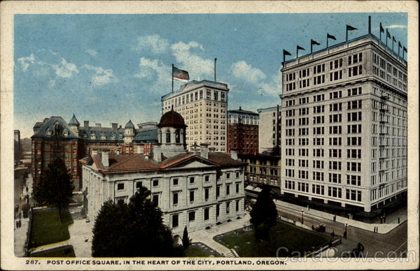 Post Office Square, in the Heart of the City, Portland, Oregon