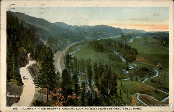 355. Columbia River Highway, Oregon, Looking West Fro Shepperd's Dell Dome