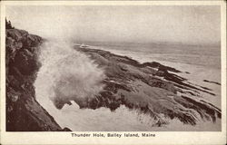 Thunder Hole, Bailey Island, Maine Postcard