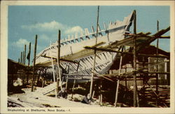 Shipbuilding at Shelbourne, Novia Scotia