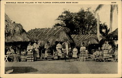 Seminole Indian Village in the Florida Everglades near Miami
