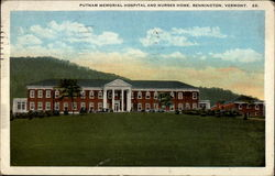 Putnam Memorial Hospital and Nurses Home, Bennington, Vermont
