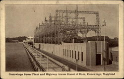 Conowingo Power Plant and highway across breast of dam