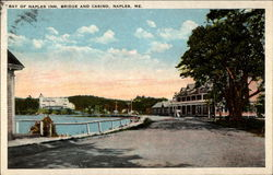 Bay of Naples Inn, Bridge and Casini, Naples, ME Postcard