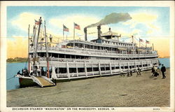 "Excursion Steamer-""Washington"" on the Mississippi, Keokok, IA"