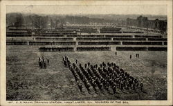 U. S. Naval Training Station Great Lakes, Ill. Soldiers of the Sea Postcard