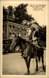 One of the Winnebago Indian Chiefs taken in front of Finch Hotel, Kilbourn, Wis