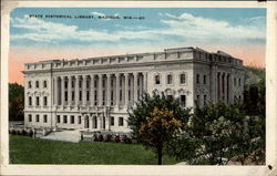 State Historical Library, Madison, Wisconsin Postcard