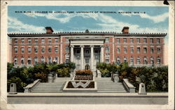 Main Bldg. , College of Agriculture, University of Wisconsin, Madison, Wis Postcard