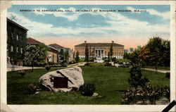 Approach to Agricultural Hall, University of Wisconsin, Madison, Wis Postcard
