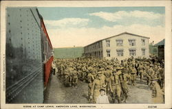 Scene at Camp Lewis