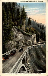 Columbia River Highway, Oregon, winding around the west end of Shepperd's Dell