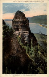 One of the objects of interest to travelers. St. Peter's Dome, on the Columbia River Postcard