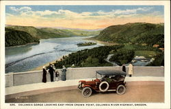 Columbia Gorge looking east from Crown Point, Columbia River Highway Postcard