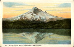 Relection of Mount Hood in Lost Lake, Oregon