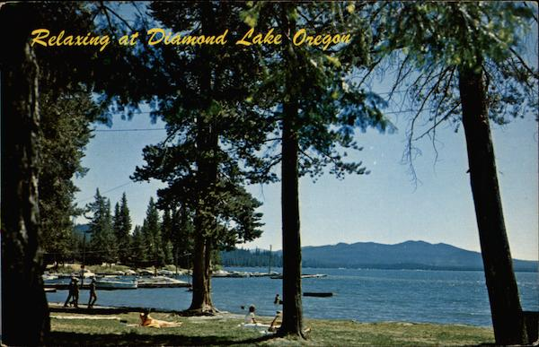 Relaxing at Diamond Lake Oregon