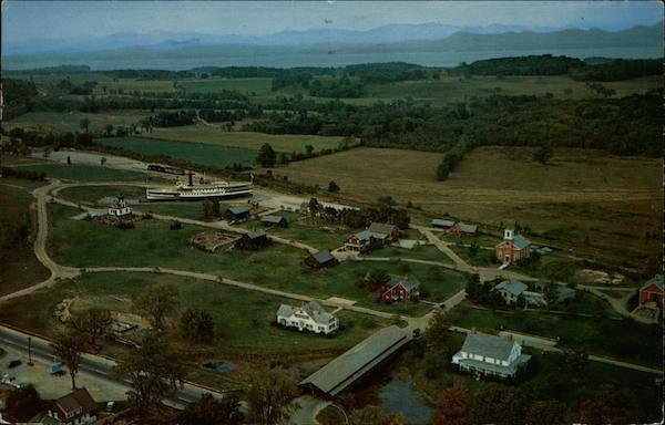 Aerial View of the Shelburne Museum Vermont
