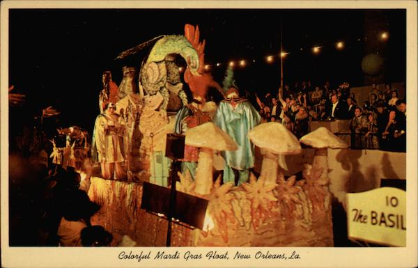 Colorful Mardi Cras Float New Orleans Louisiana