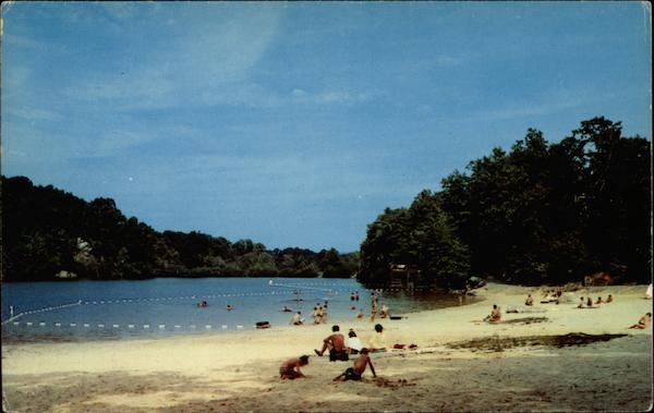 Bathing Beach At Cacapon State Park In Morgan County