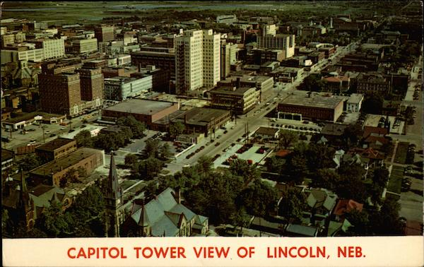 Capitol Tower View of Lincoln Nebraska