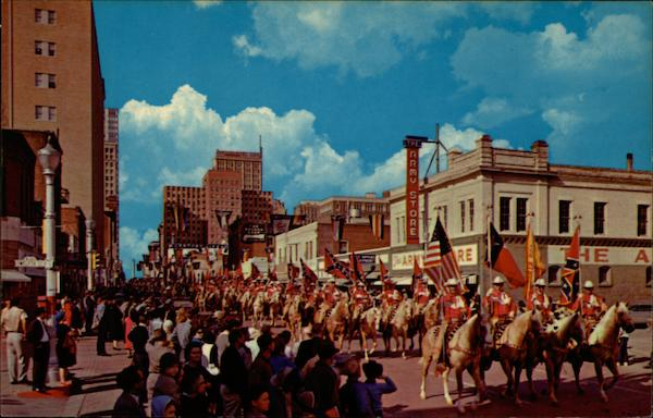 * Annual Stock Show-Rodeo Parade * Where the Wild West Remains * Fort Worth, Texas
