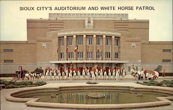 Sioux City's Auditorium and White Horse Patrol Iowa