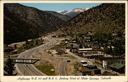 C-449--Highways U.S. 40 and U.S. 6 Looking west at Idaho Springs, Colo