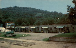 3 Point Motel and Restaurant Postcard
