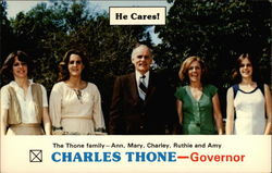 The Thone family - Ann, Mary, Charley, Ruthie and Amy, Charles Thone - Governor