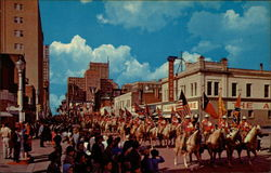 "* Annual Stock Show-Rodeo Parade * ""Where the Wild West Remains"" * Fort Worth, Texas Postcard"