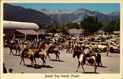 Joseph Day Parade, Oregon Postcard