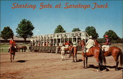 Starting Gate at Saratoga Track