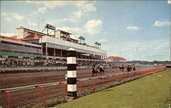 Rockingham Race Track Postcard