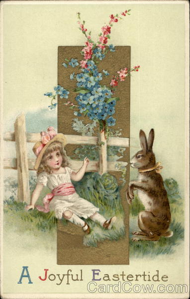 A Little Girl and a Bunny With Children