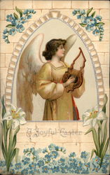 An Angel With A Harp
