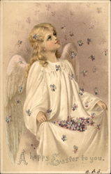 An Angel Catches Violets Raining From Heaven