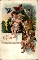 Cherubs With Eggs And Balancing In Midair