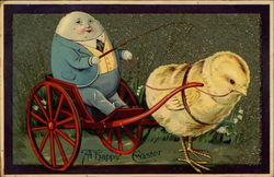 Humpty Dumpty driving wagon