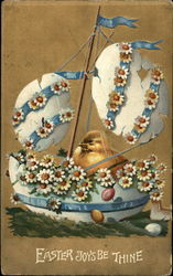 Festive Easter Egg Boat and Chick